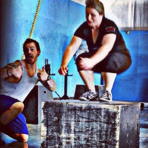 My coach, Wes, and me.20 inch box jump.