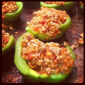 Fletch's Stuffed Bell Peppers
